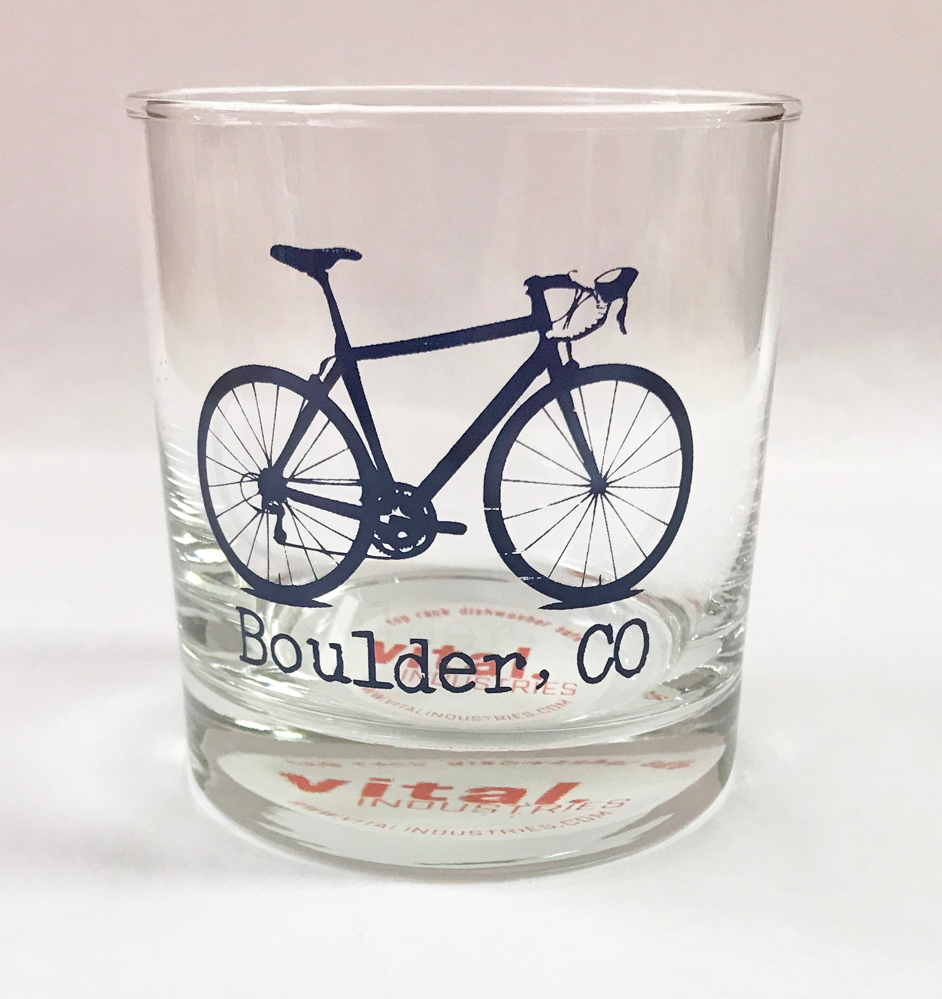 Navy Blue Boulder Bike Rocks Glass