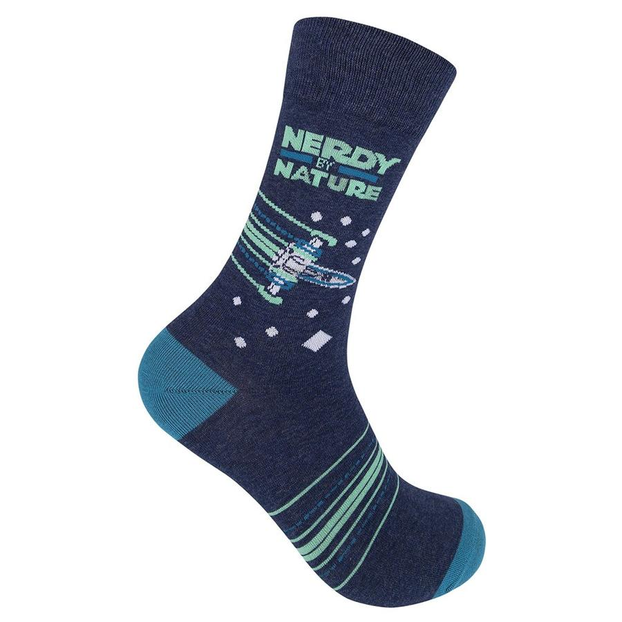 """Nerdy by Nature"" Socks"