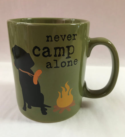 Never Camp Alone Dog Mug