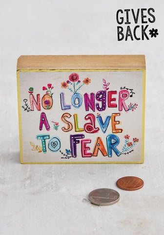 No Slave to Fear Prayer Box