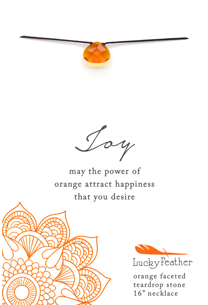 Joy Orange Necklace