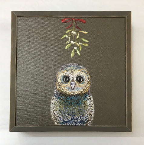 Owl-iday Mistletoe Mini Canvas