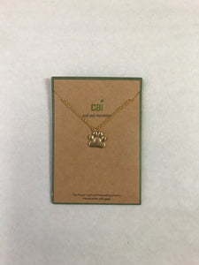 Dog Paw Gold Necklace