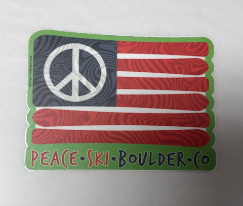 Peace Ski Boulder Flag Sticker
