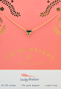 Live Light Triangle Necklace