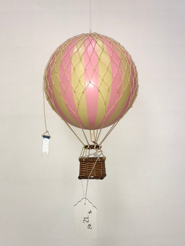 Pink Hot Air Balloon Medium