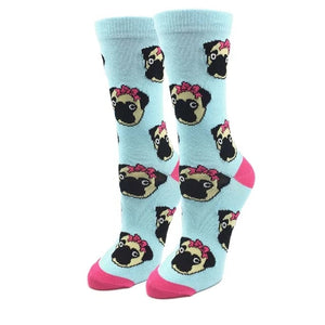 Pugs with Bows Women's Socks