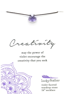 Violet Creativity Necklace