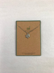 Puzzle Piece Silver Necklace