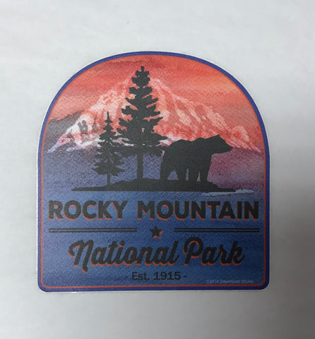 RMNP Watercolor Bear Sticker