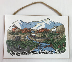 Wooden RMNP Sign