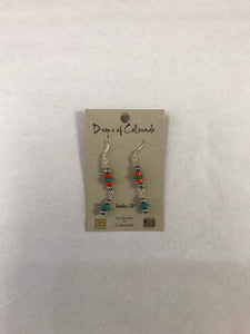 Raquel Apache Orange & Turquoise Earrings