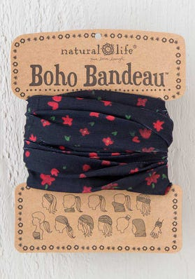 Black Blooms Boho Bandeau