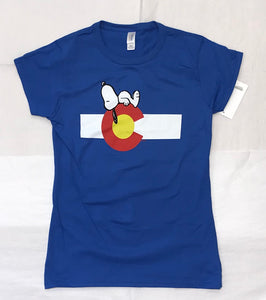 Snoopy & Colorado Flag Women's Tee