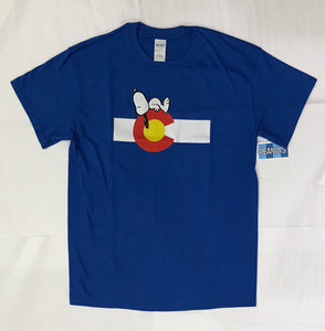 Snoopy & Colorado Flag Men's Tee