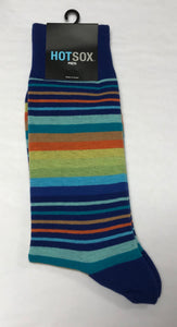 Men's Blue Variegated Stripe Socks