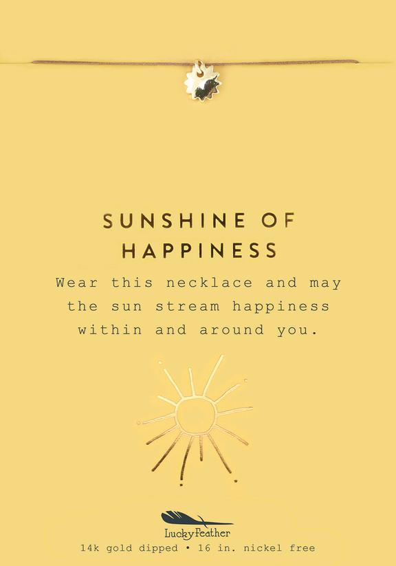 Sunshine of Happiness - Gold Sun Necklace