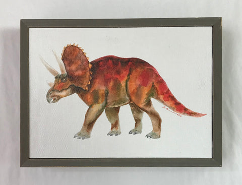 Triceratops Portrait Mini Canvas