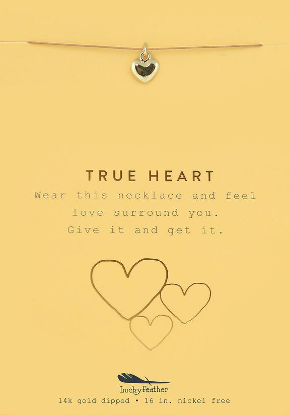 True Heart - Gold Heart Necklace