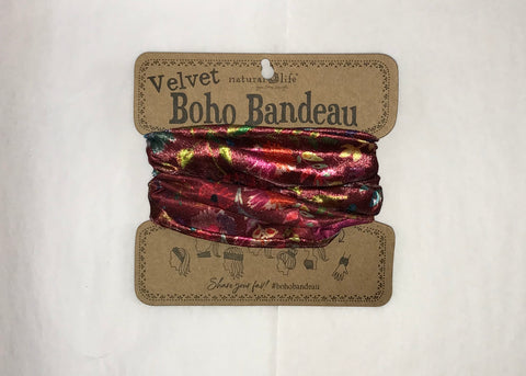Velvet Berry Wildflowers Half Bandeau