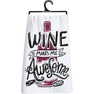 Wine Makes Me Awesome Kitchen Towel