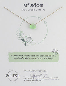 "Jade Green ""Wisdom"" Necklace"