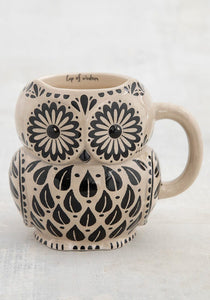 Cup of Wisdom Owl Folk Mug
