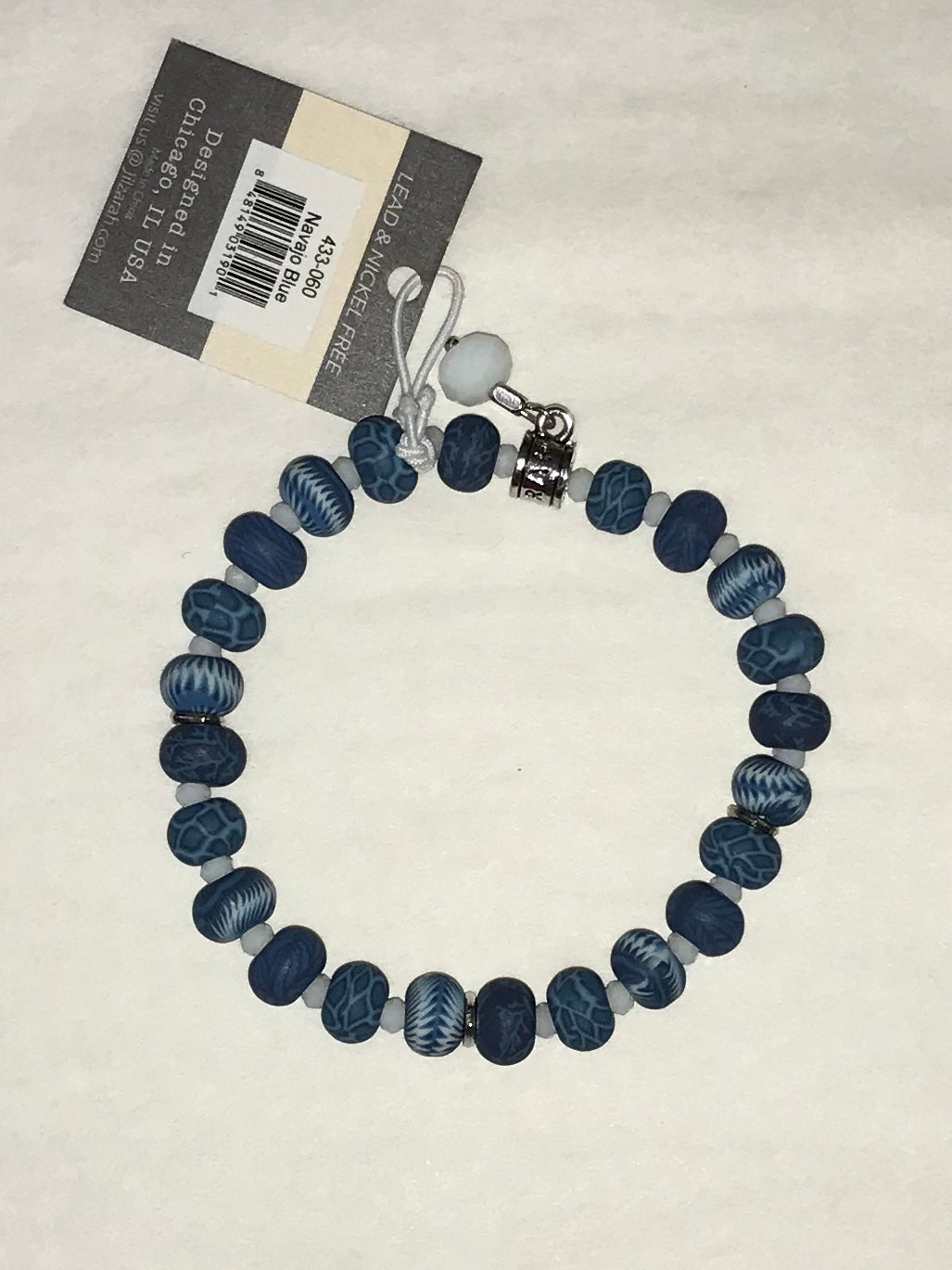 Navajo Blue Clay Bead Bracelet