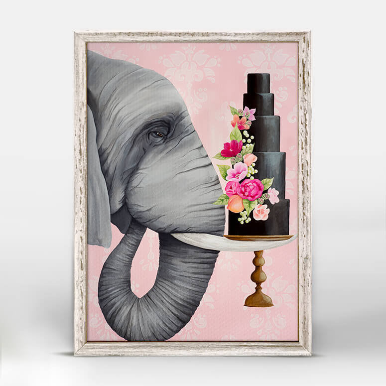 Chocolate Fondant Elephant Mini Canvas
