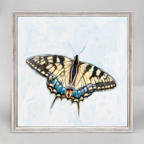 Dreaming in Blue Butterfly Mini Canvas