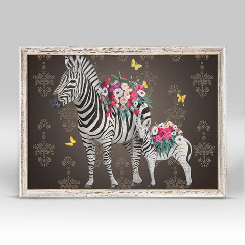 Florist Family Zebra Mini Canvas