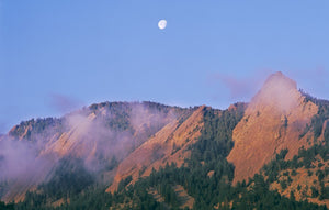 Full Moon Over Flatirons Card
