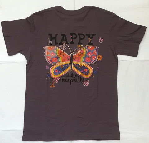 Happy is the New Pretty Women's Tee