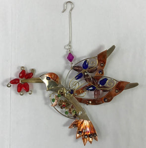 Hummingbird and Flower Ornament