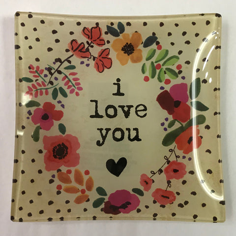 I Love You Square Trinket Dish
