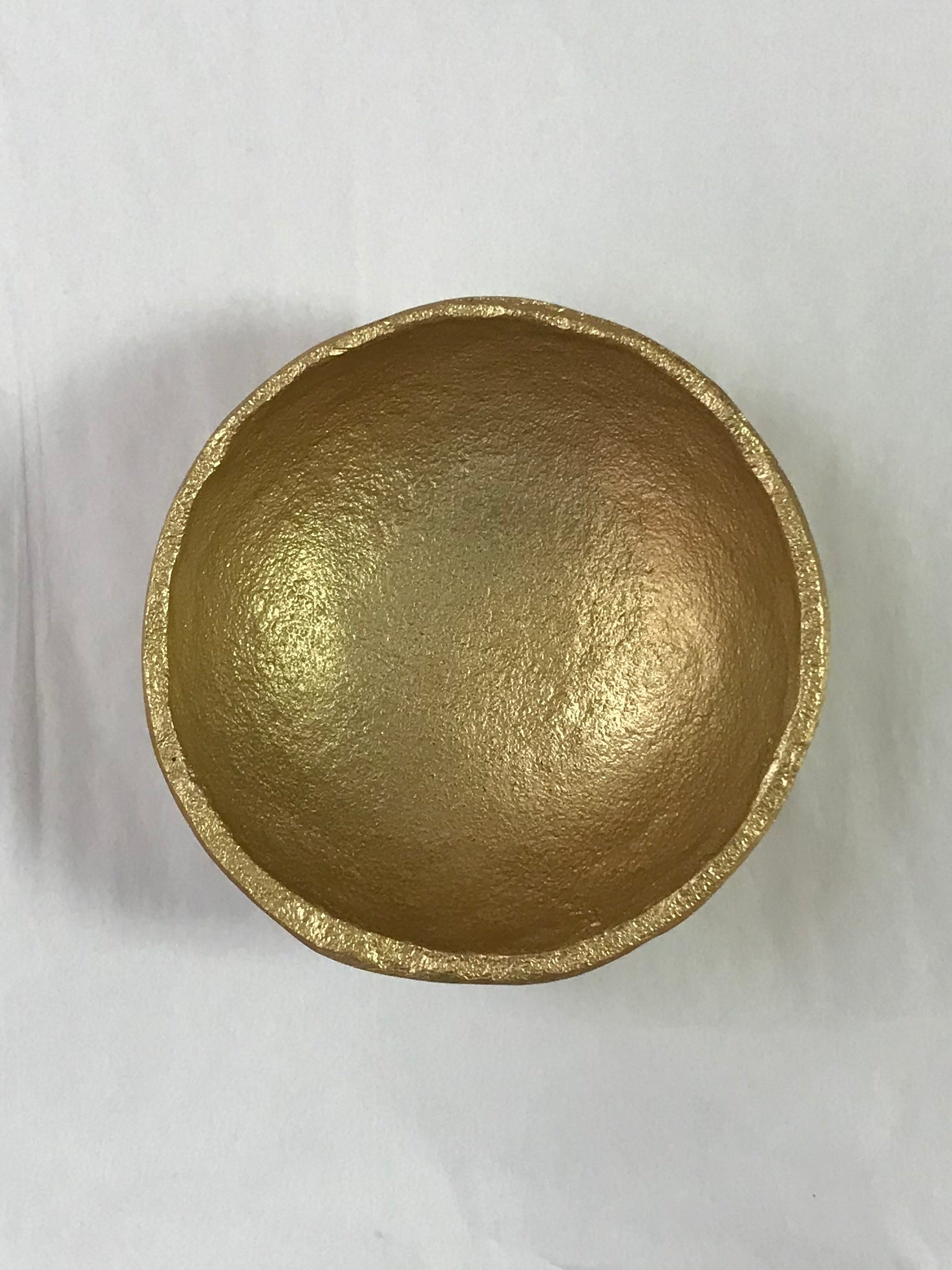 Gold Aluminum Bowl Large