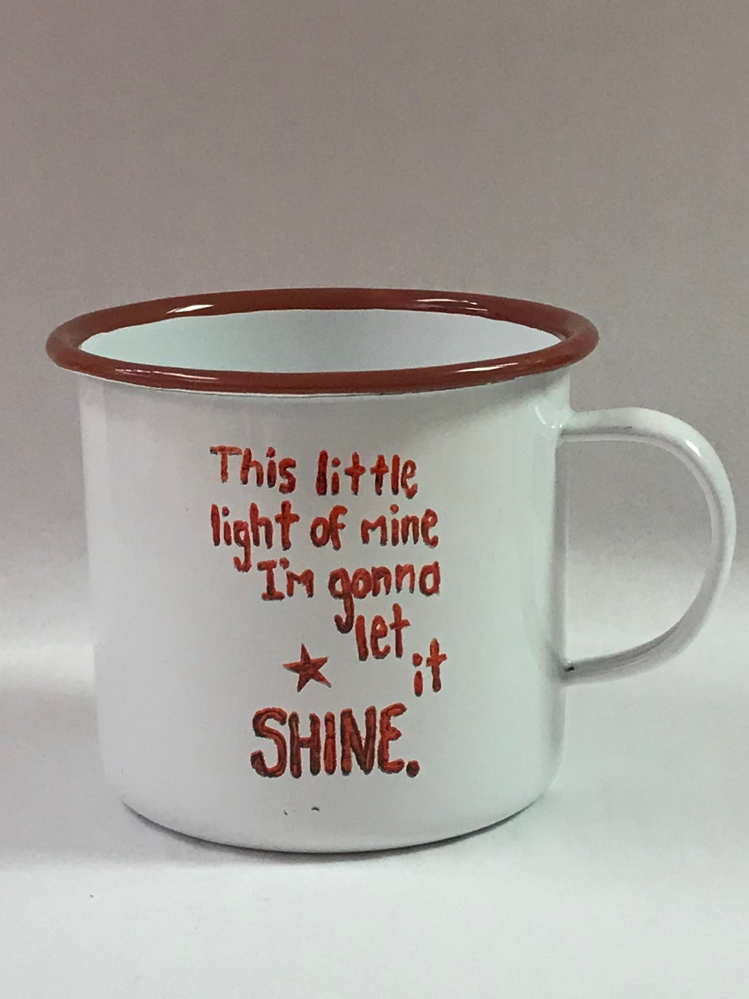 Let It Shine Enamel Mug