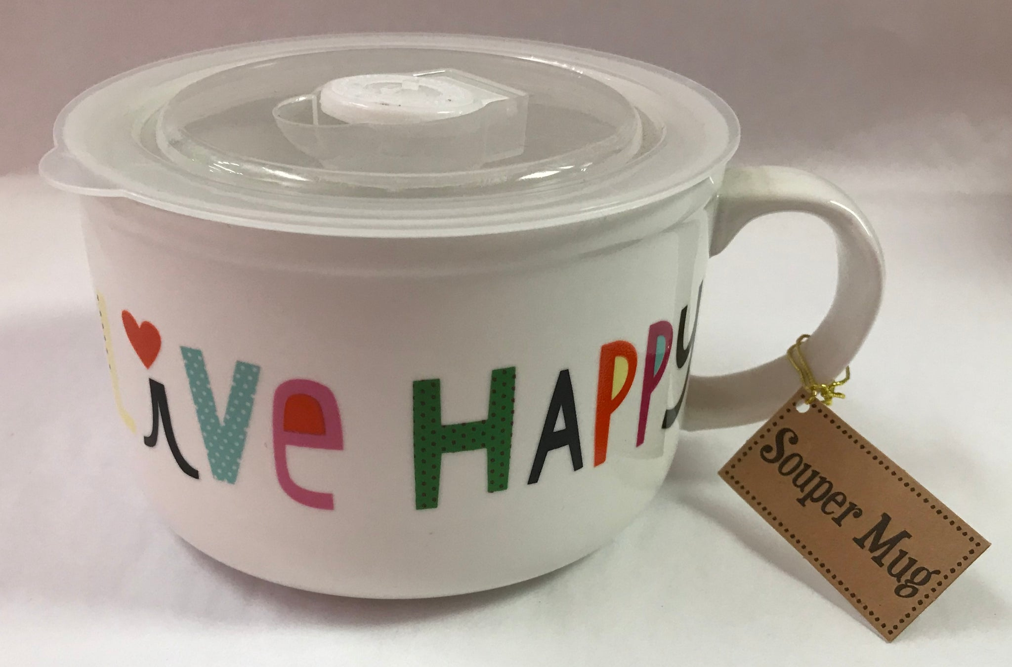 Live Happy Soup Mug