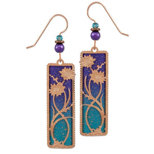 Daisies in Blue & Gold Earring
