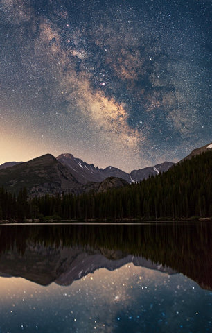 Milky Way Over Bear Lake Card