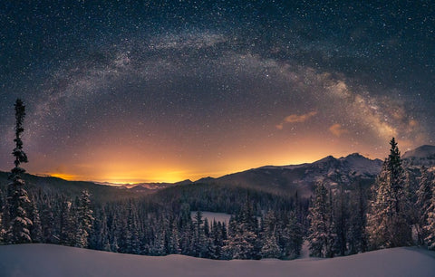 Milky Way And Longs Peak Card