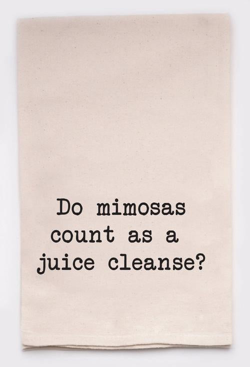 Mimosa Juice Cleanse Kitchen Towel