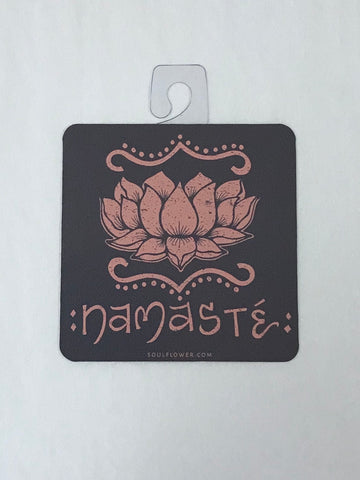 Namaste Lotus Sticker