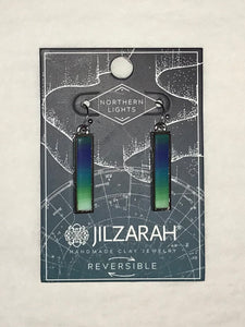 Northern Lights Reversible Clay Earrings