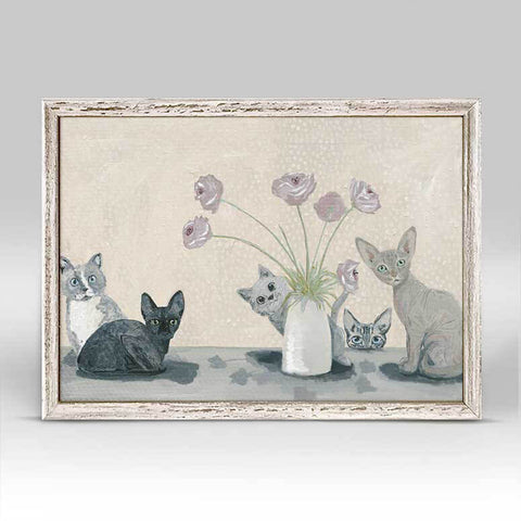 Not on the Table Cats Mini Canvas
