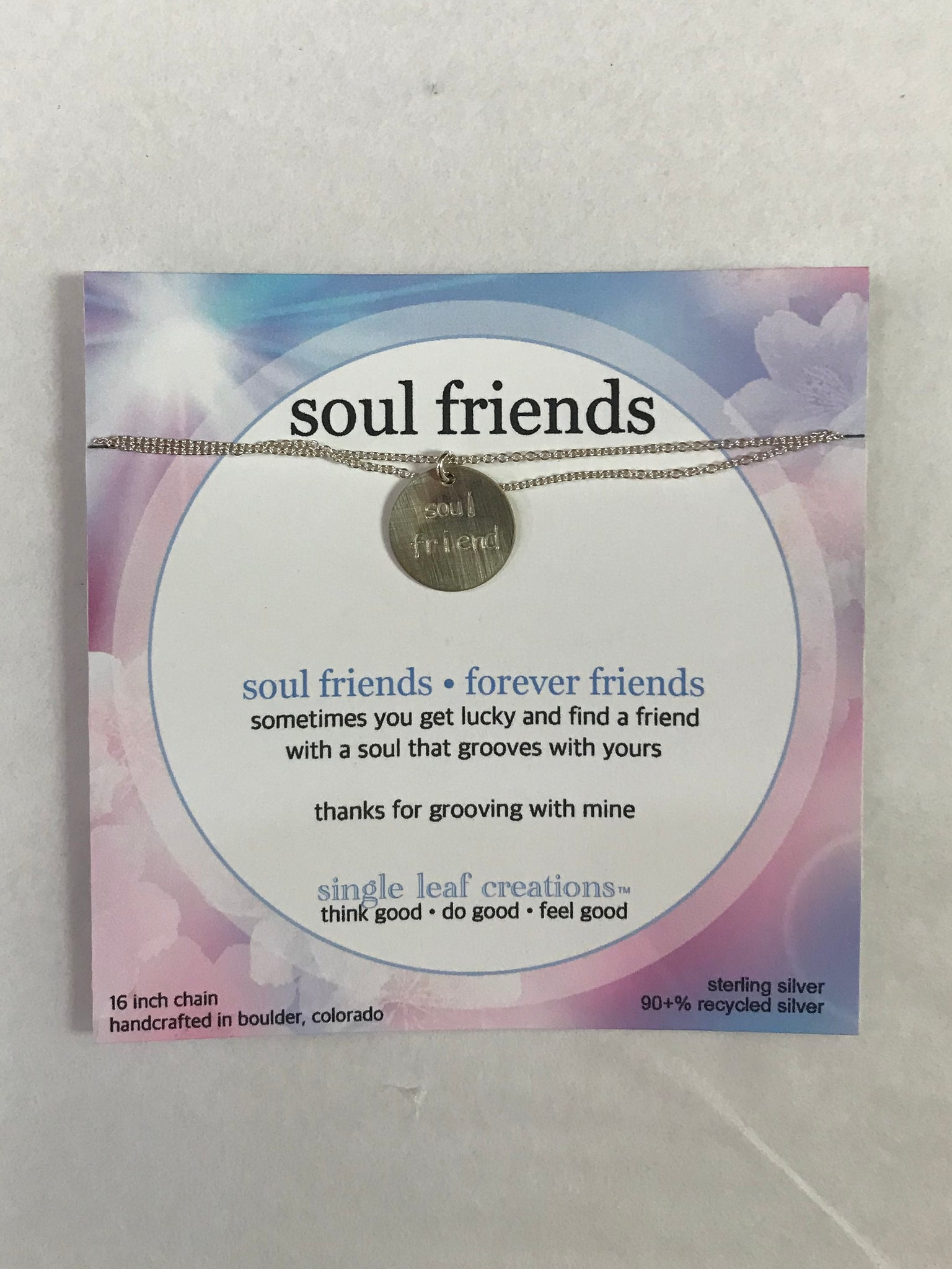 Soul Friend Silver Necklace