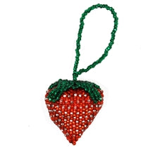 Strawberry Beaded Ornament
