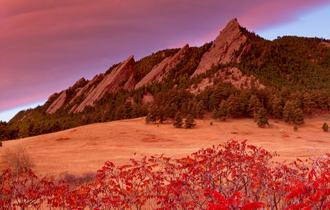 Flatirons In Fall Card