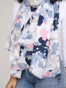 BOAT LIFE FLORAL SCARF