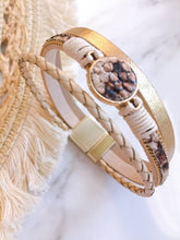 Load image into Gallery viewer, SNAKE PRINT LEATHER BRACELETS